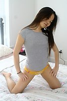 Hot Asian Cutie Jiji Teasing On Bed - Picture 12