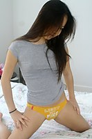 Hot Asian Cutie Jiji Teasing On Bed - Picture 4