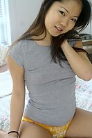 Hot Asian Cutie Jiji Teasing On Bed - Picture 8